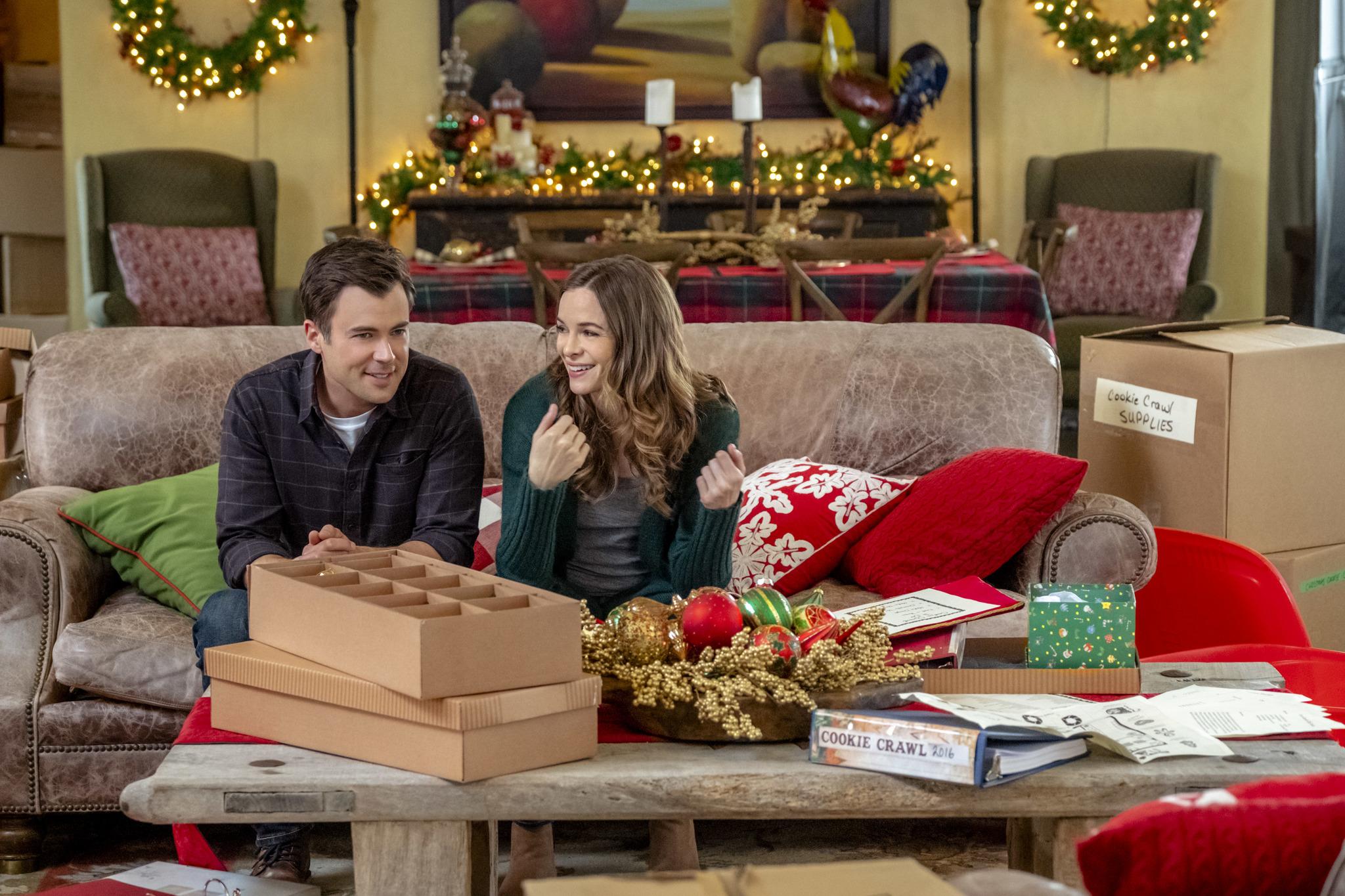 Danielle Panabaker and Matt Long in Christmas Joy (2018)