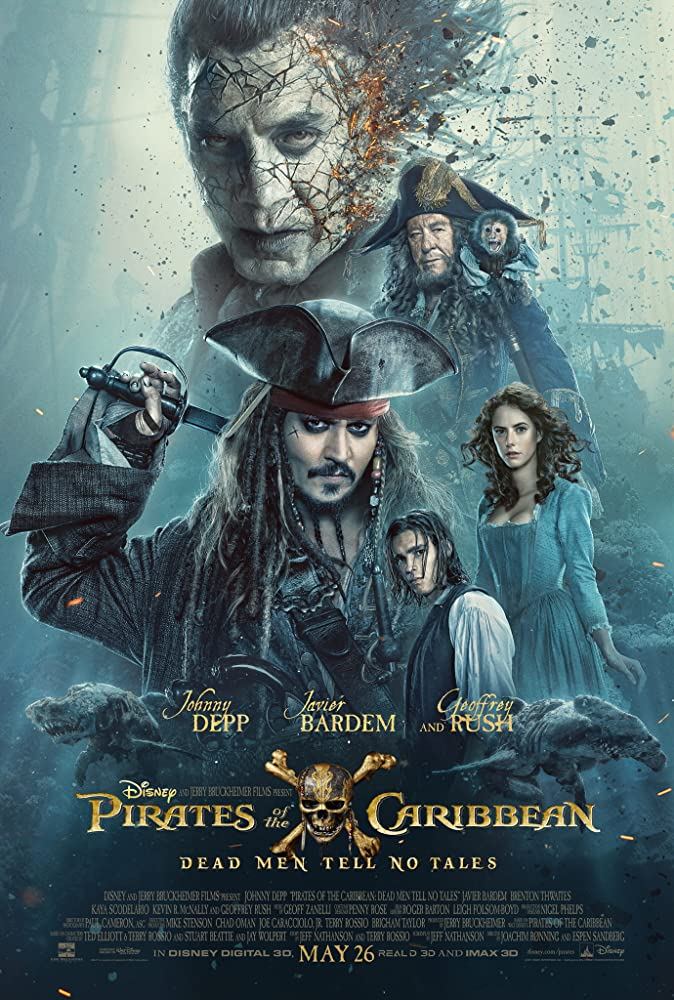 Pirates of the Caribbean 5 – 2017 Movie BluRay Dual Audio Hindi Eng 400mb 480p 1.3GB 720p 5GB 1080p