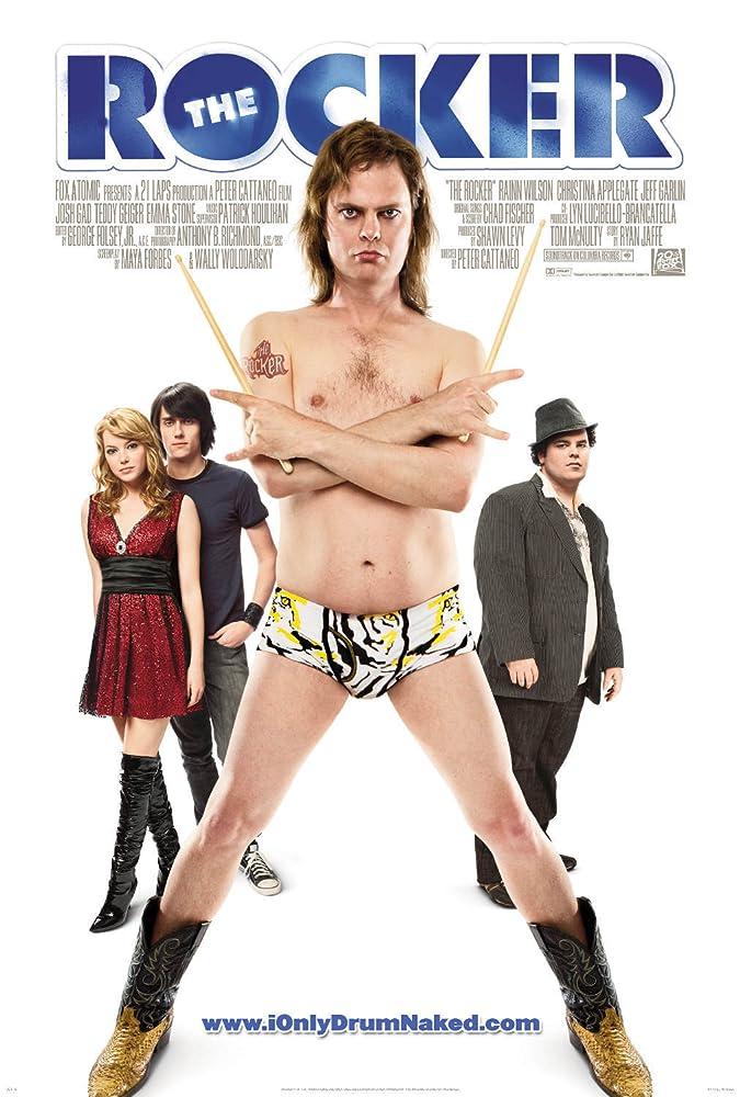Rainn Wilson, Josh Gad, Emma Stone, and Teddy Geiger in The Rocker (2008)