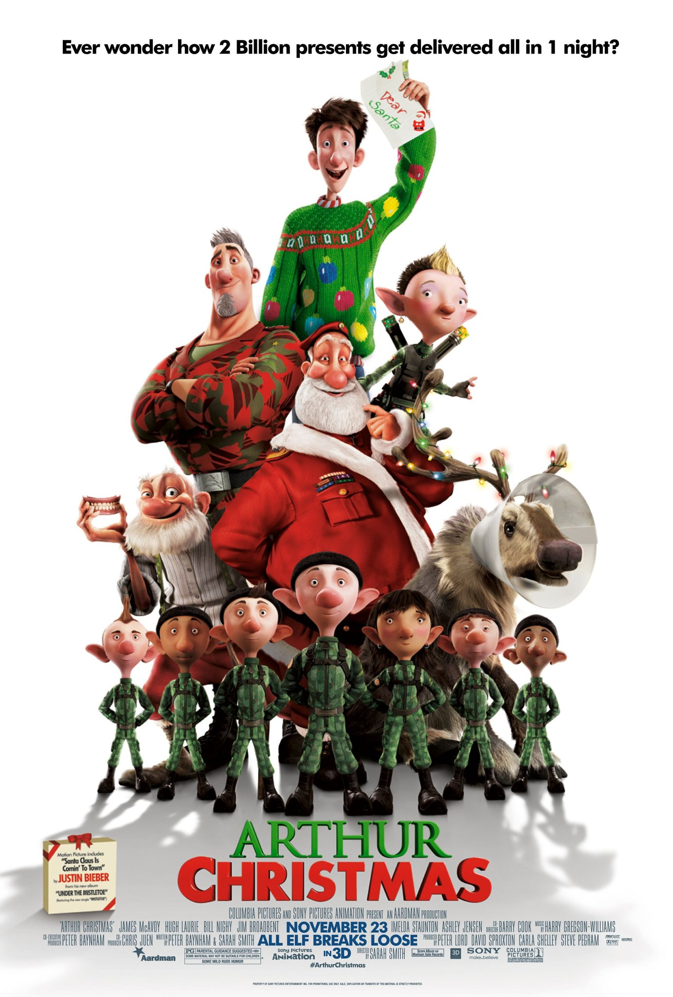 arthur christmas 2011 imdb - Animated Christmas Elves Decorations