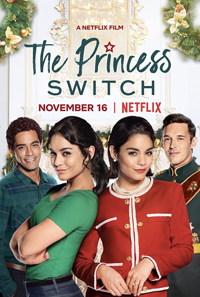 Vanessa Hudgens, Nick Sagar, and Sam Palladio in The Princess Switch (2018)