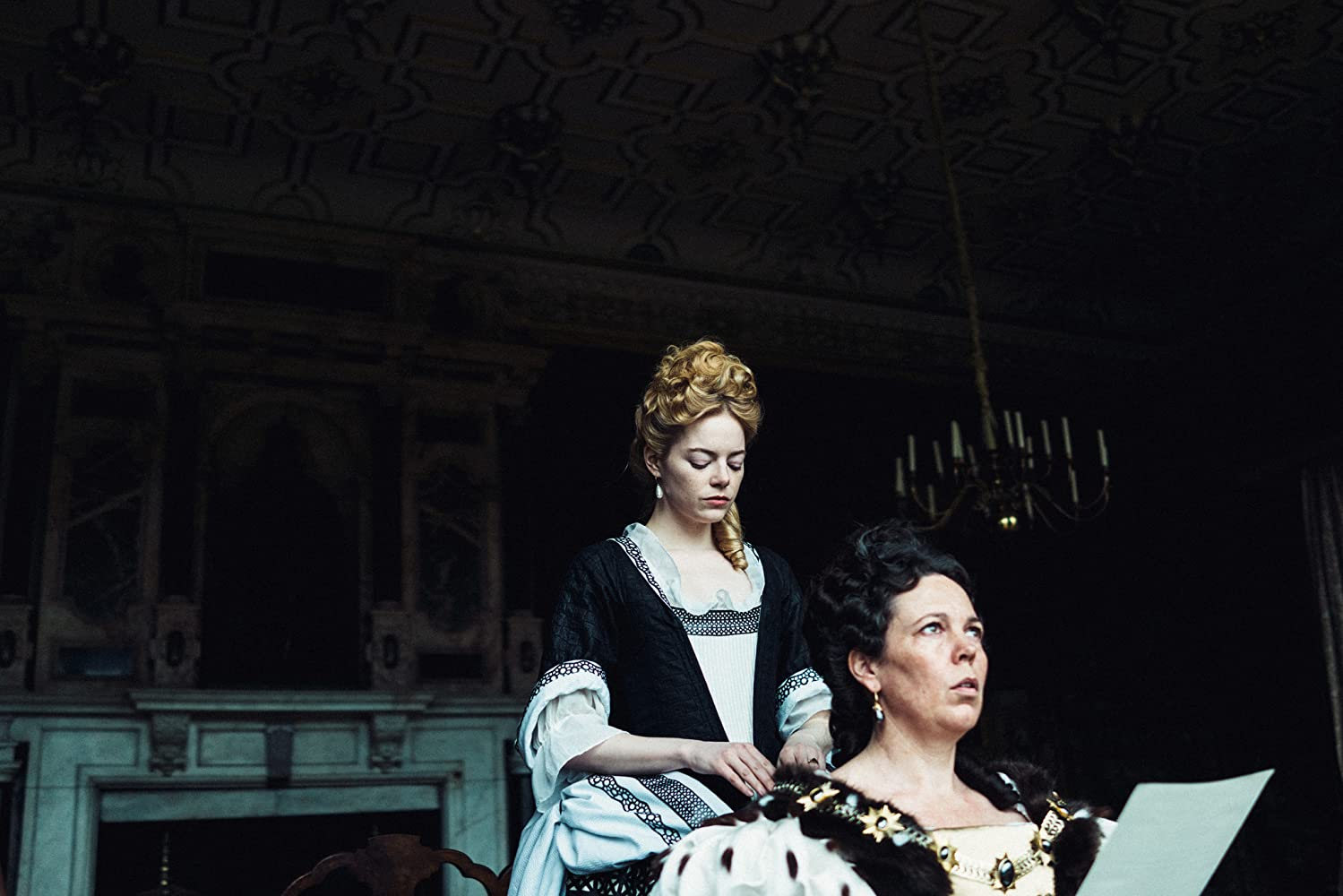 Emma Stone and Olivia Colman in The Favourite (2018)
