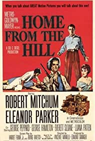 Robert Mitchum, George Hamilton, and Eleanor Parker in Home from the Hill (1960)