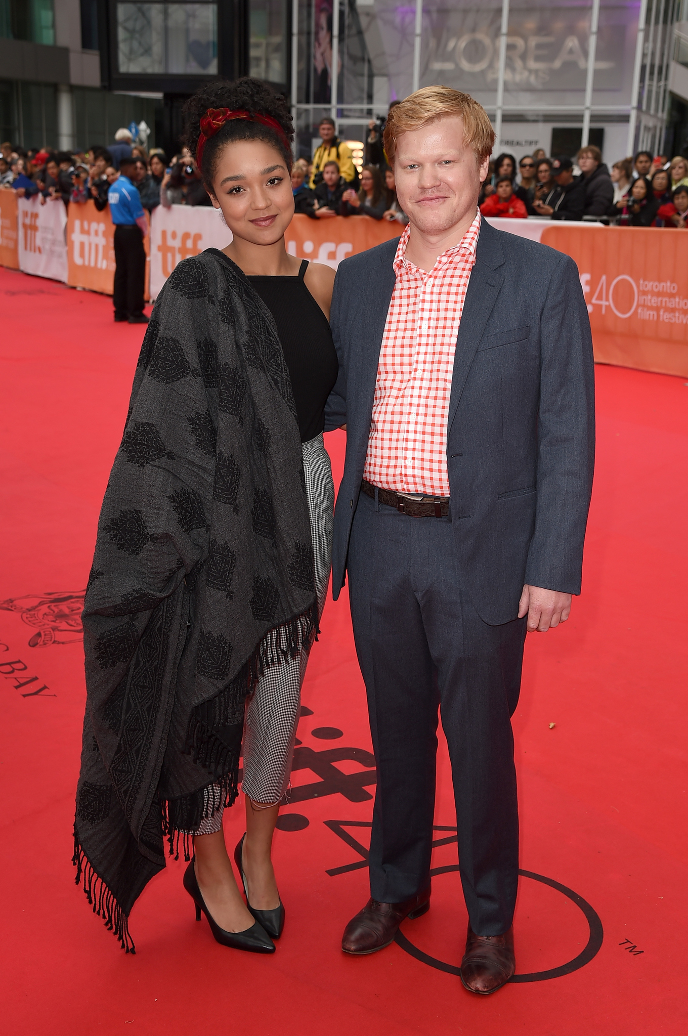 Jesse Plemons and Aisha Dee at an event for The Program (2015)
