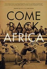 Come Back, Africa(1959) Poster - Movie Forum, Cast, Reviews