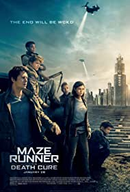 Giancarlo Esposito, Thomas Brodie-Sangster, Dexter Darden, Dylan O'Brien, Ki Hong Lee, and Rosa Salazar in Maze Runner: The Death Cure (2018)