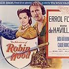 Olivia de Havilland and Errol Flynn in The Adventures of Robin Hood (1938)