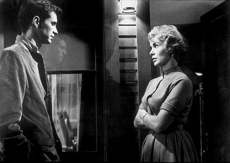 """Psycho,"" Anthony Perkins and Janet Leigh."