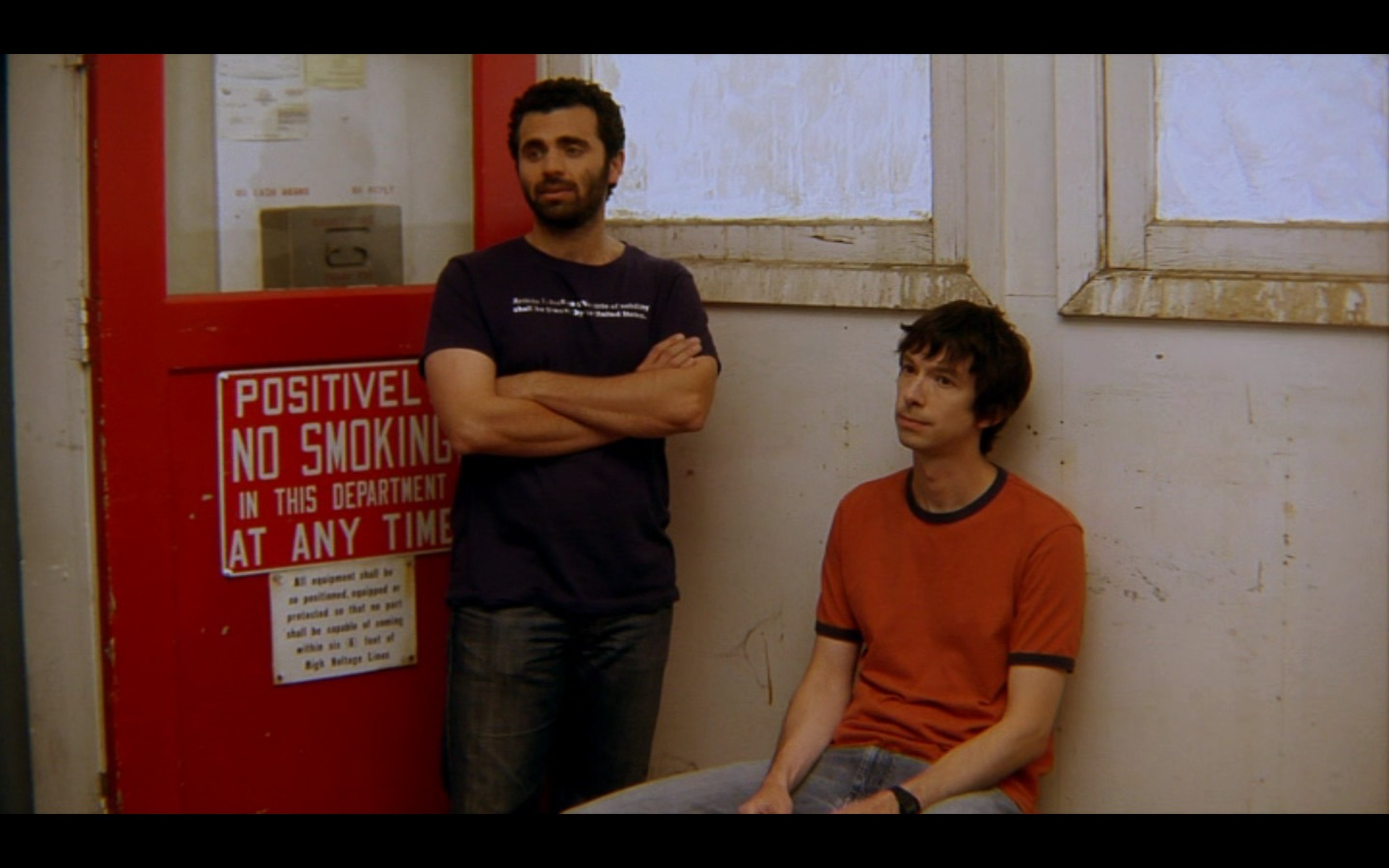 Todd Aaron Brotze as Donovan in Portable Storage, with Nicholas Massouh