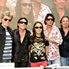 Jonathan Cain, Neal Schon, Ross Valory, Deen Castronovo, Journey, and Arnel Pineda in Don't Stop Believin': Everyman's Journey (2013)
