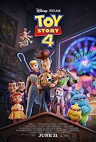 Tom Hanks, Keanu Reeves, Tim Allen, Annie Potts, Tony Hale, Christina Hendricks, Keegan-Michael Key, Ally Maki, and Jordan Peele in Toy Story 4 (2019)