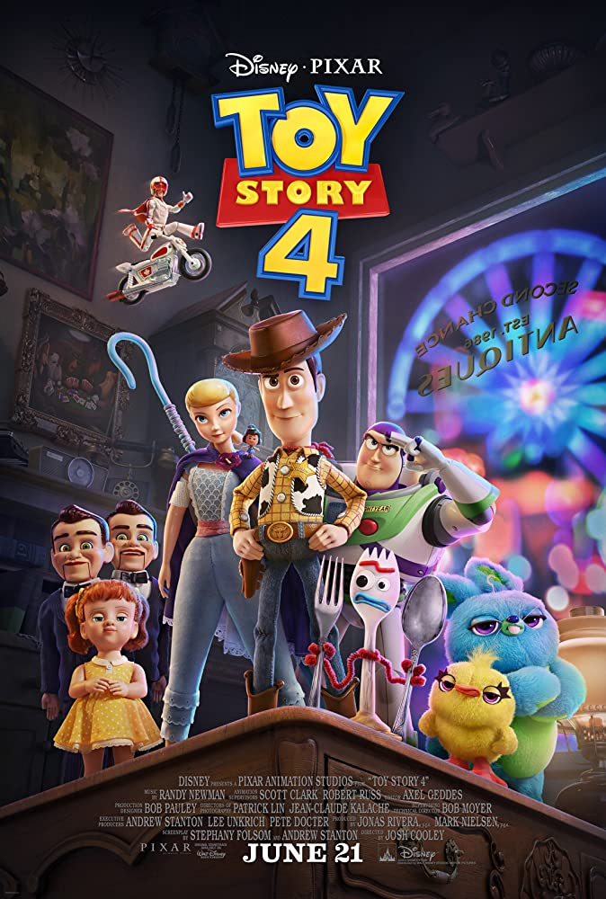 Tom Hanks, Keanu Reeves, Tim Allen, Annie Potts, Tony Hale, Christina Hendricks, Keegan-Michael Key, Ally Maki, and Jordan Peele in Toy Story 4 (2019)