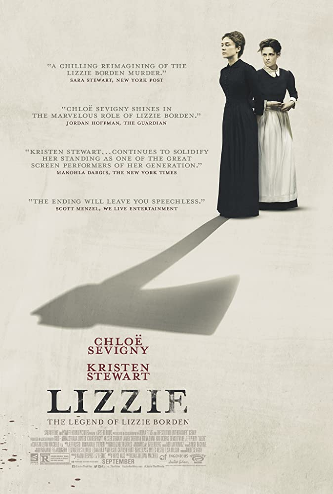 "Movie poster for ""Lizzie"", a 2018 film"