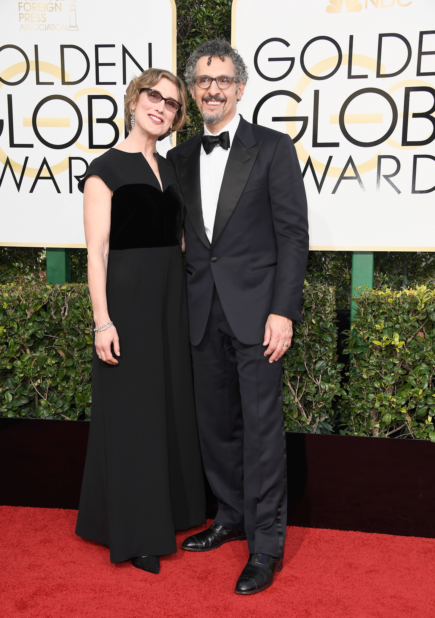 John Turturro and Katherine Borowitz at an event for The 74th Annual Golden Globe Awards 2017 (2017)