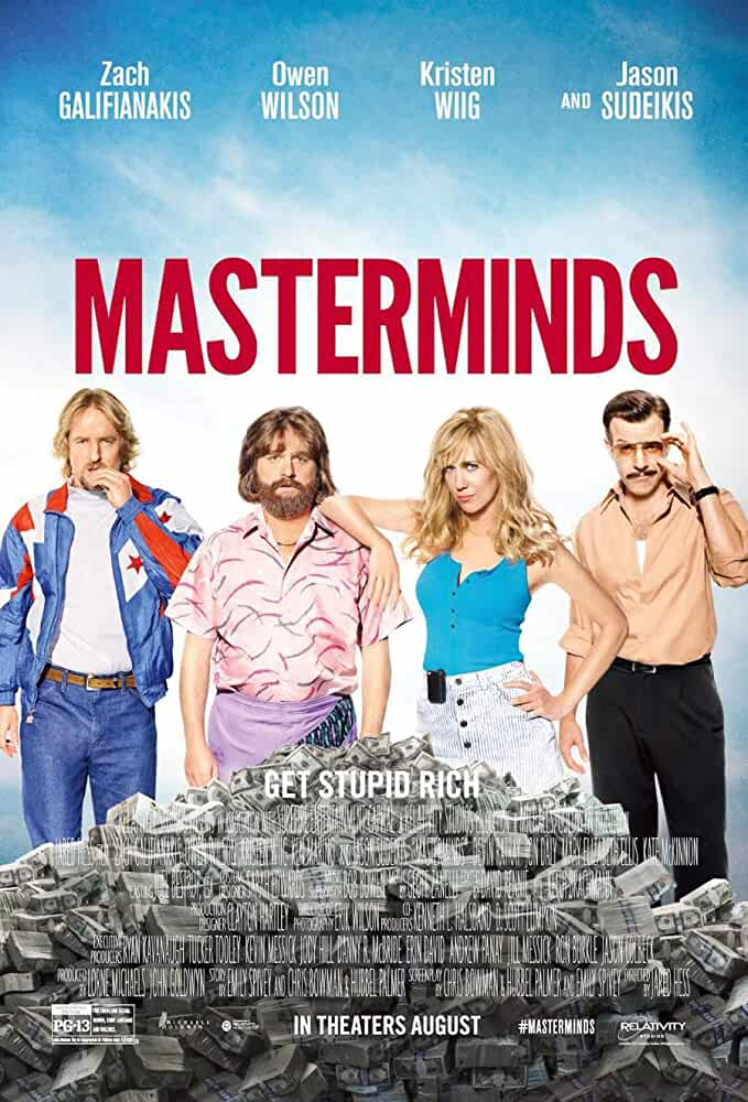 Masterminds (2016) BluRay 720p Dual Audio (Hindi + English) | Full Movie