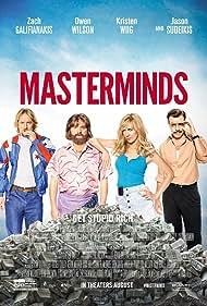 Owen Wilson, Zach Galifianakis, Jason Sudeikis, and Kristen Wiig in Masterminds (2016)