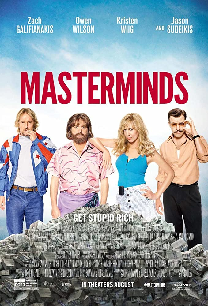 Masterminds (2016) Hindi Dubbed