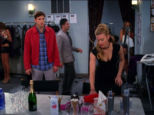 Ashton Kutcher and Brooke D'Orsay in Two and a Half Men (2003)