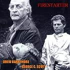 Drew Barrymore, George C. Scott, and Curtis Credel in Firestarter (1984)