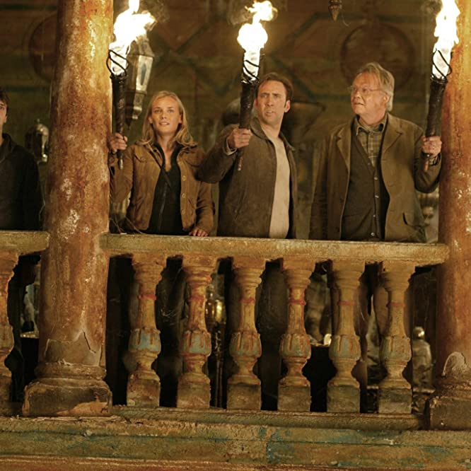Nicolas Cage, Jon Voight, Justin Bartha, and Diane Kruger in National Treasure (2004)