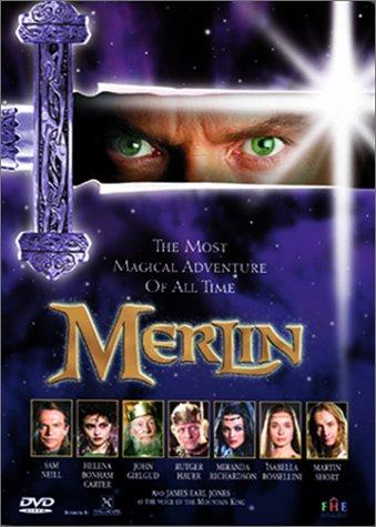 John Gielgud, Helena Bonham Carter, Rutger Hauer, Sam Neill, Isabella Rossellini, Miranda Richardson, and Martin Short in Merlin (1998)