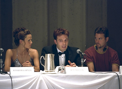 Ben Affleck, Jennifer Garner, and Mark Steven Johnson in Daredevil (2003)