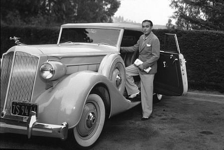 Charles Boyer with his 1935 Packard *M.W.*