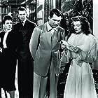 Cary Grant, Katharine Hepburn, James Stewart, and Ruth Hussey in The Philadelphia Story (1940)
