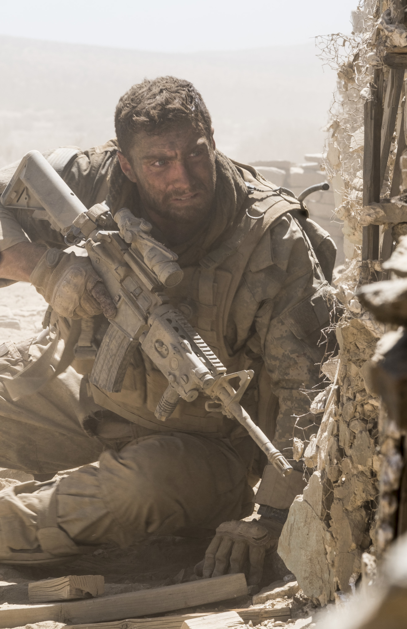 Aaron Taylor-Johnson in The Wall (2017)