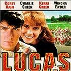 Charlie Sheen, Corey Haim, and Kerri Green in Lucas (1986)