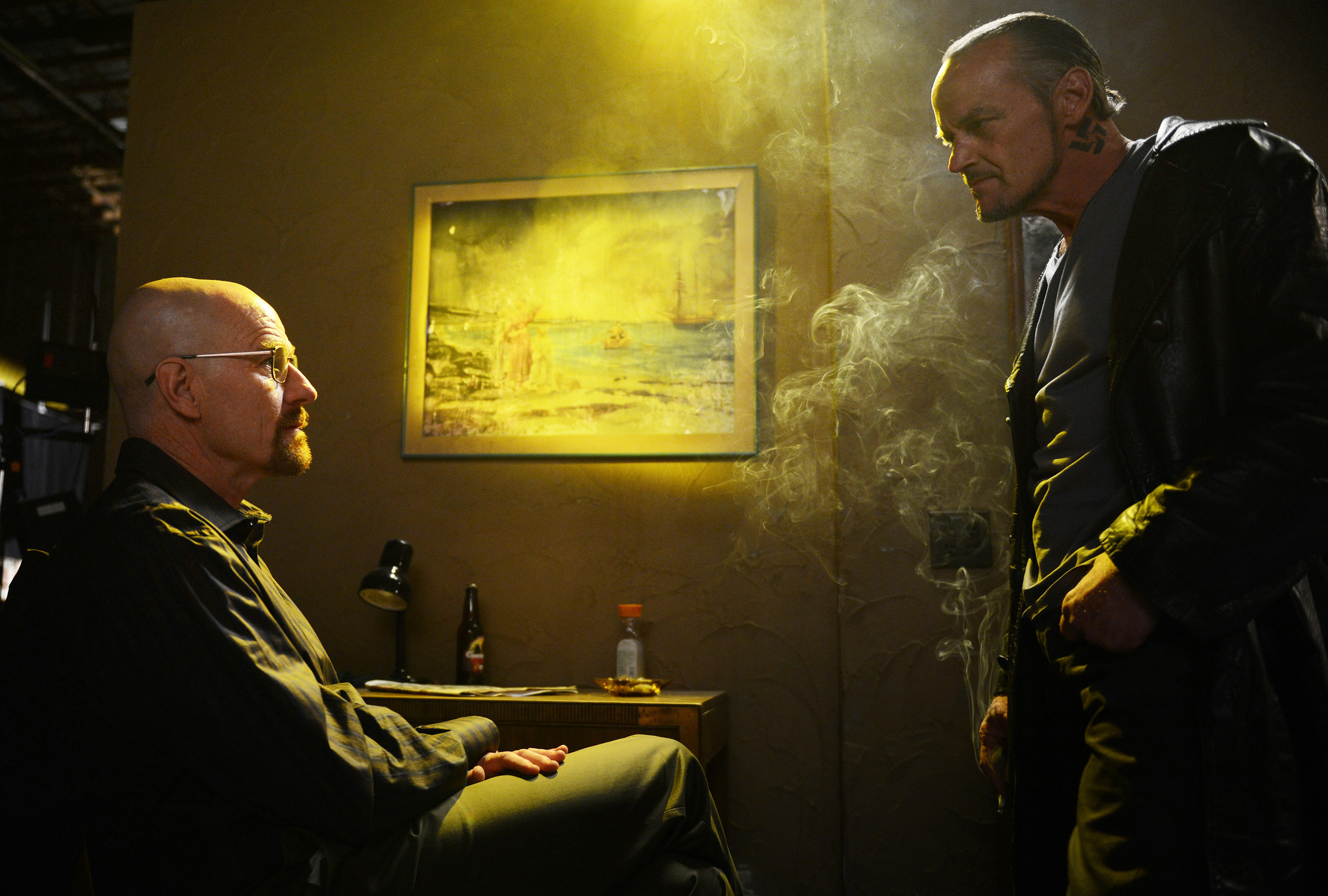 The fifth and final season of the American television drama series Breaking Bad premiered on July 15 2012 and concluded on September 29 2013 on AMC in the United