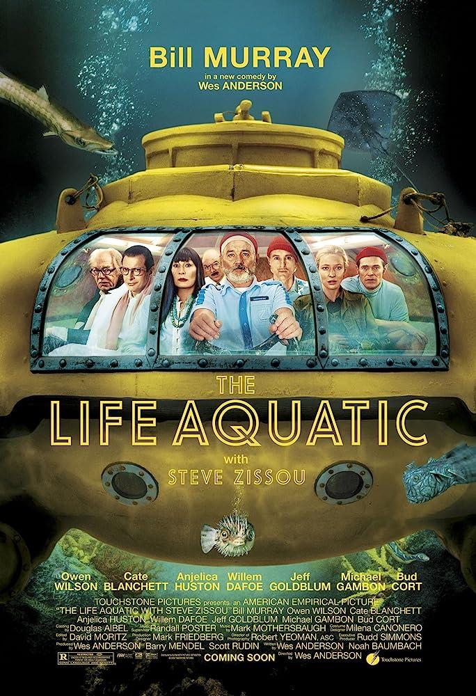 Jeff Goldblum, Bill Murray, Willem Dafoe, Cate Blanchett, Bud Cort, Anjelica Huston, Michael Gambon, and Owen Wilson in The Life Aquatic with Steve Zissou (2004)