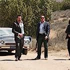 Jean-Claude Van Damme, Grant Bowler, Josh Henderson, and Daniele Favilli in Swelter (2014)