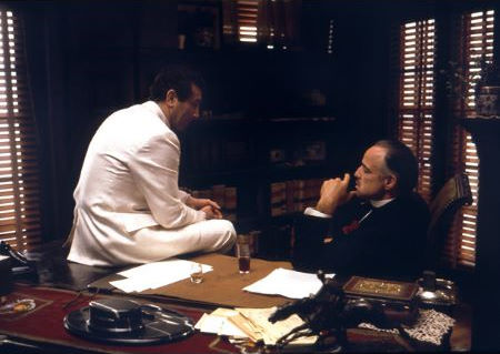 """The Godfather"" Marlon Brando, Al Martino 1971 Paramount"