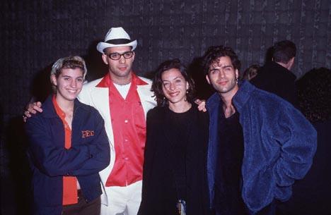 Dweezil Zappa, Ahmet Zappa, Diva Zappa, and Moon Unit Zappa at an event for Scream (1996)
