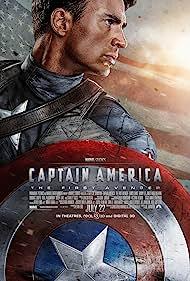 Samuel L. Jackson, Tommy Lee Jones, Chris Evans, Hugo Weaving, Derek Luke, Sebastian Stan, and Hayley Atwell in Captain America: The First Avenger (2011)
