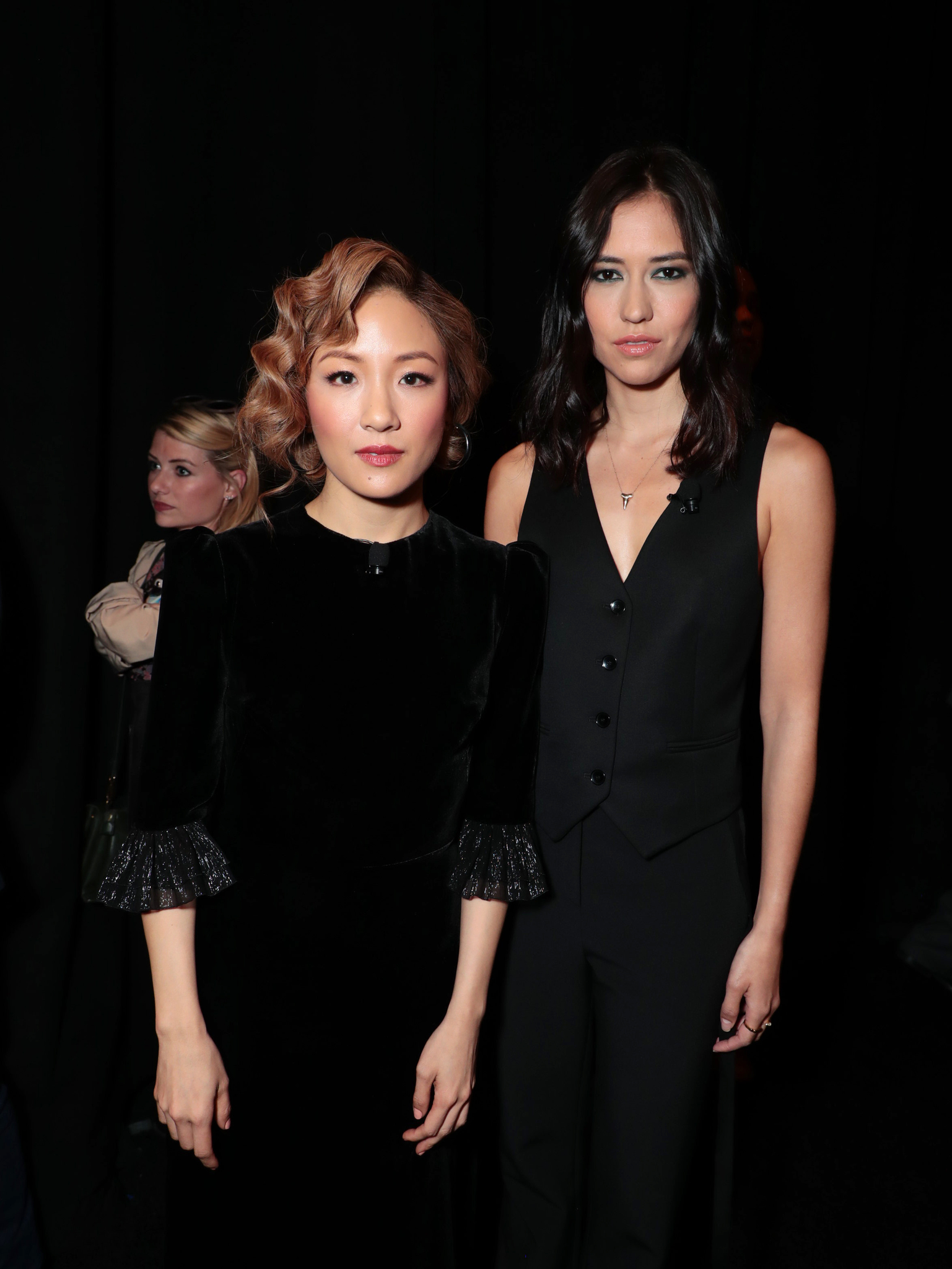 Constance Wu and Sonoya Mizuno at an event for Crazy Rich Asians (2018)