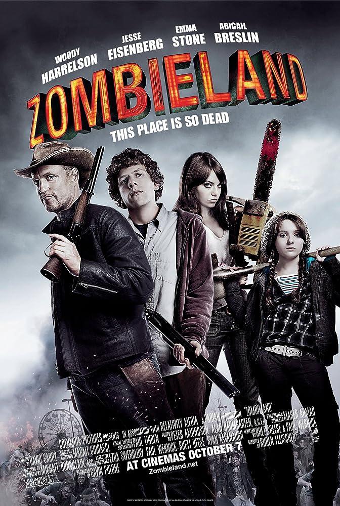 Woody Harrelson, Jesse Eisenberg, Abigail Breslin, and Emma Stone in Zombieland (2009)