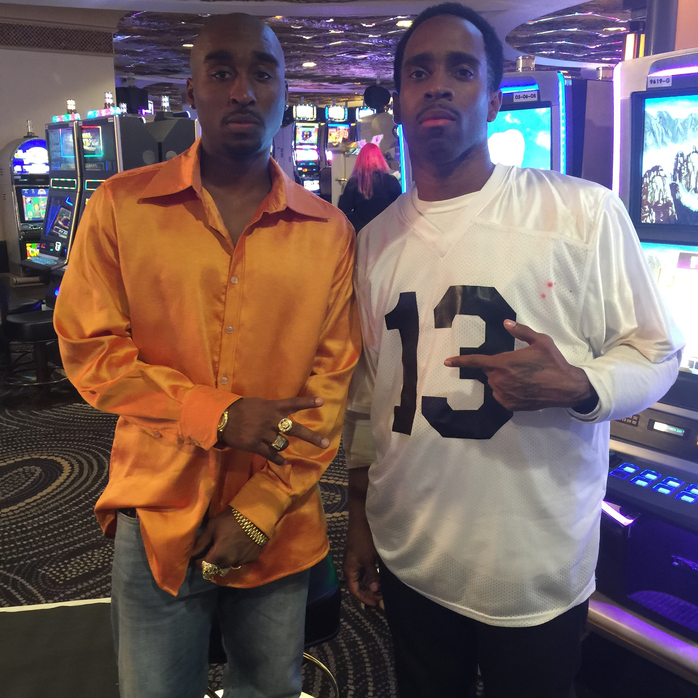 Here with Demetrius Shipp Jr ( playing tupac and I Playing (Orlando Anderson)