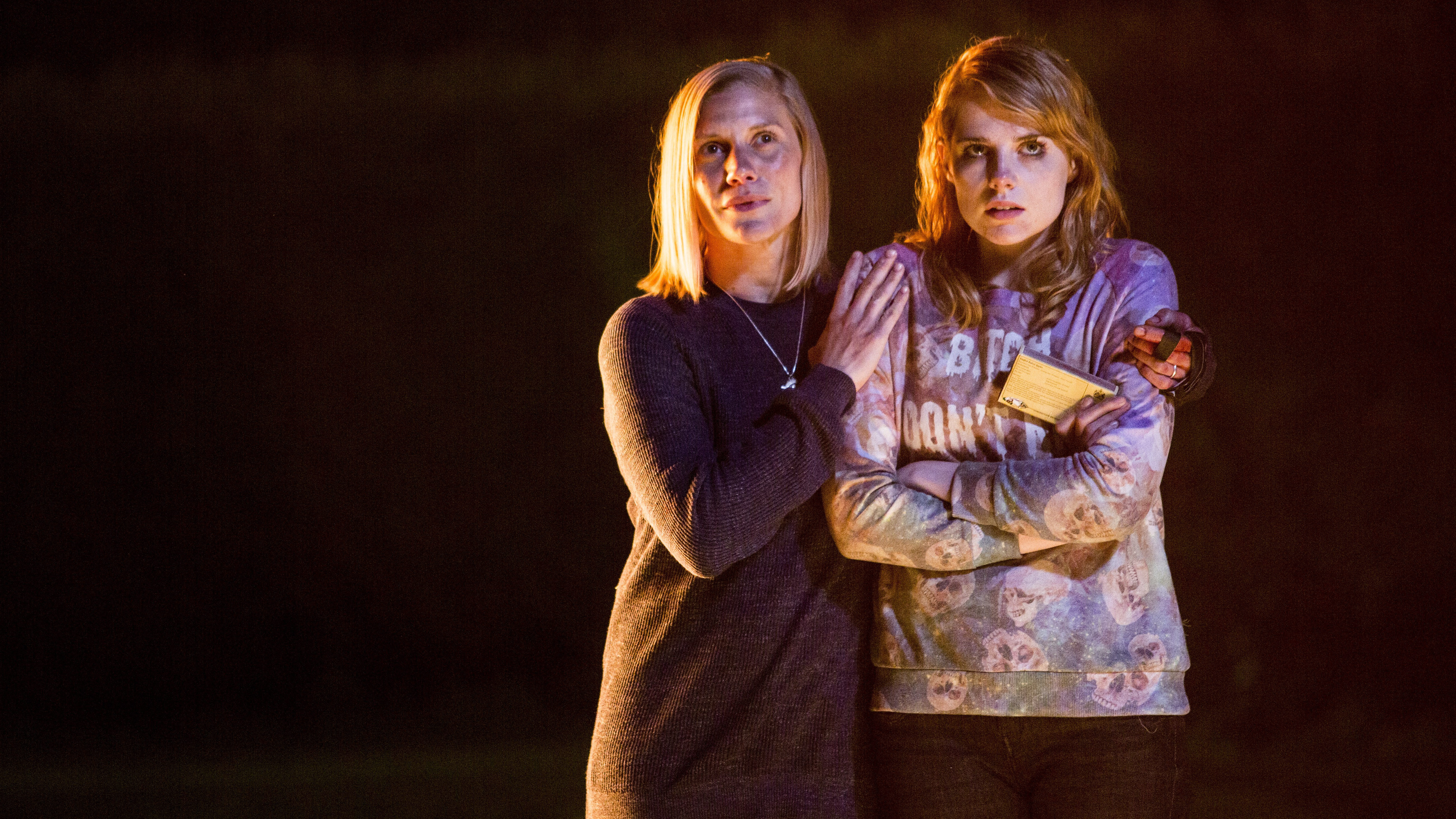 Katee Sackhoff and Lucy Boynton in Don't Knock Twice (2016)