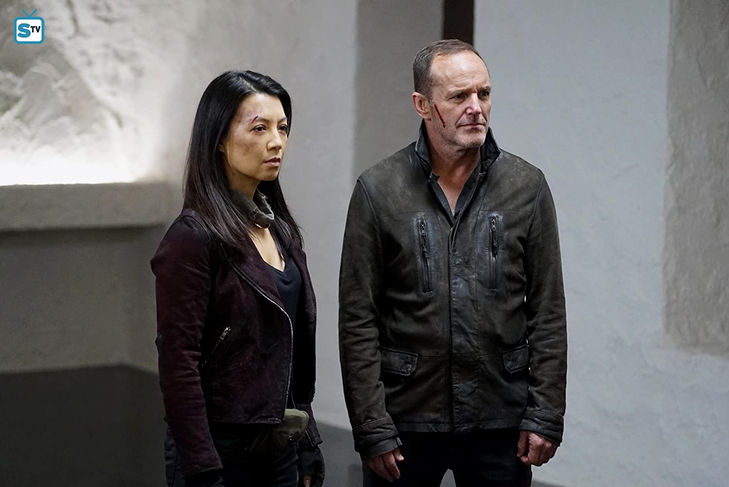 Ming-Na Wen and Clark Gregg in Agents of S.H.I.E.L.D. (2013)