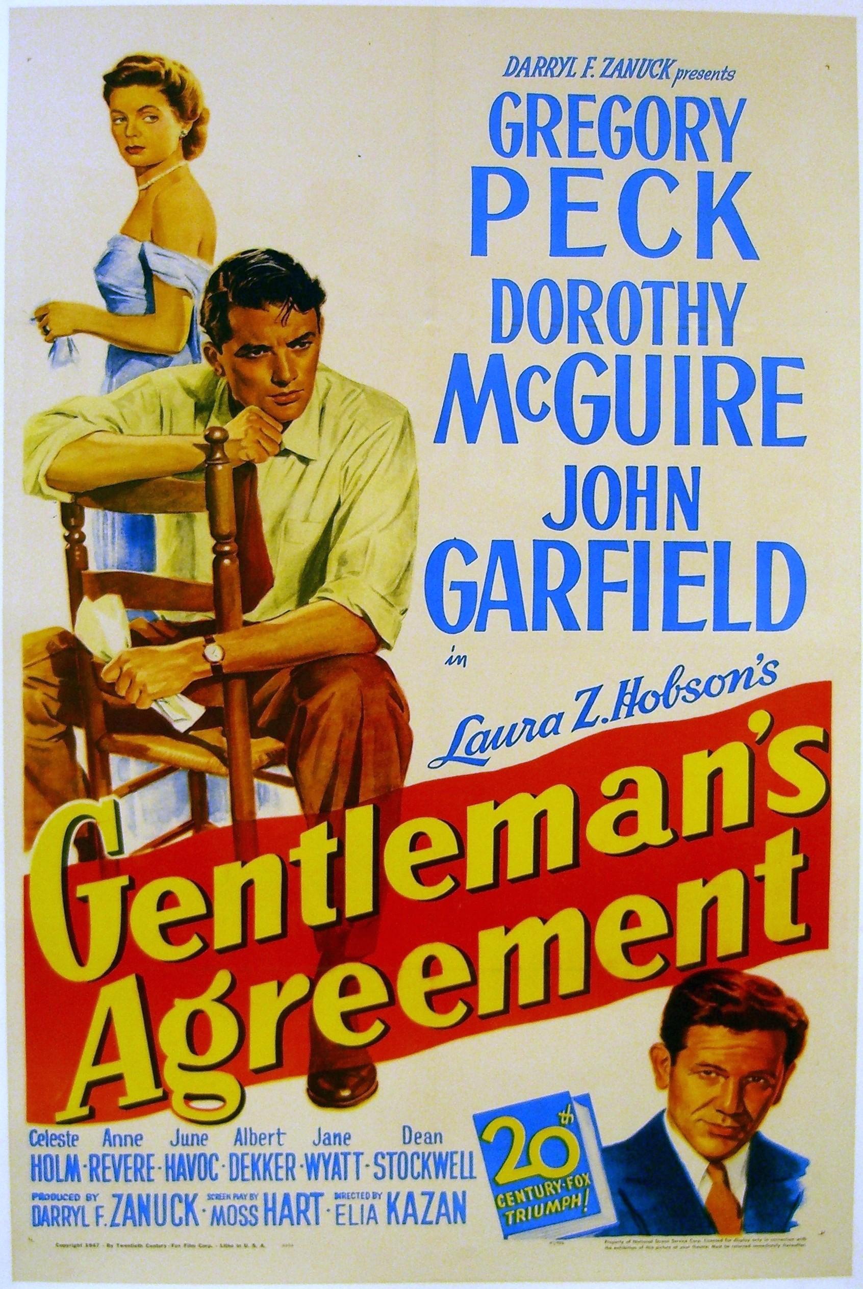 Gentlemans Agreement 1947 Imdb