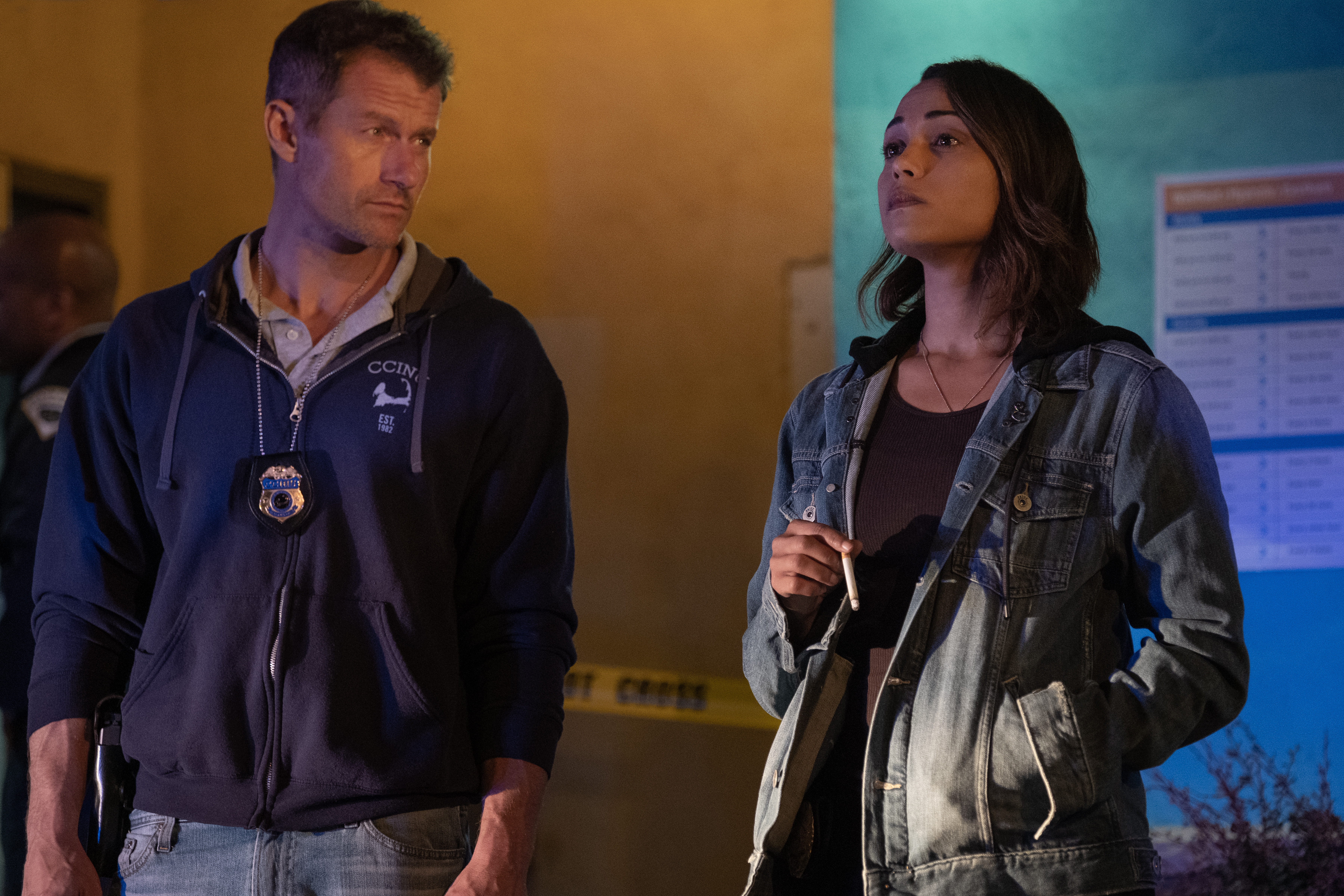 James Badge Dale and Monica Raymund in #Blessed (2020)