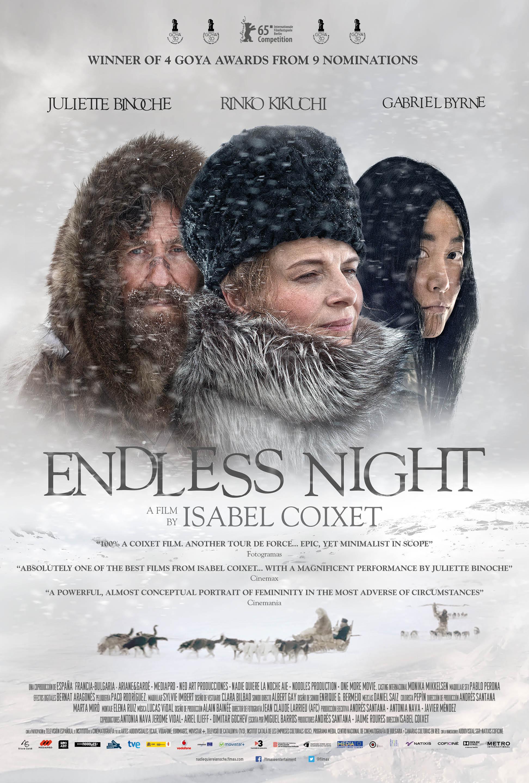 Juliette Binoche, Gabriel Byrne, and Rinko Kikuchi in Nadie quiere la noche (2015)