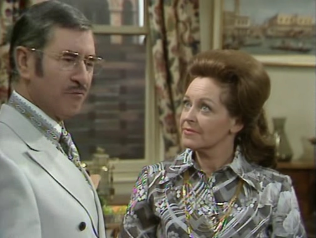 Diana Coupland and Bill Pertwee in Bless This House (1971)