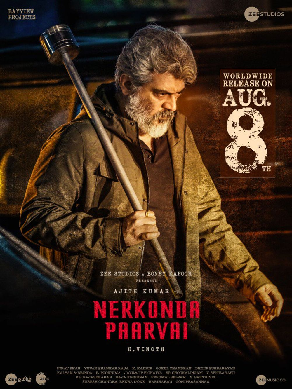 Nerkonda Paarvai (Maha Rakshak) 2019 Hindi Dual Audio 480p UNCUT HDRip ESubs 500MB
