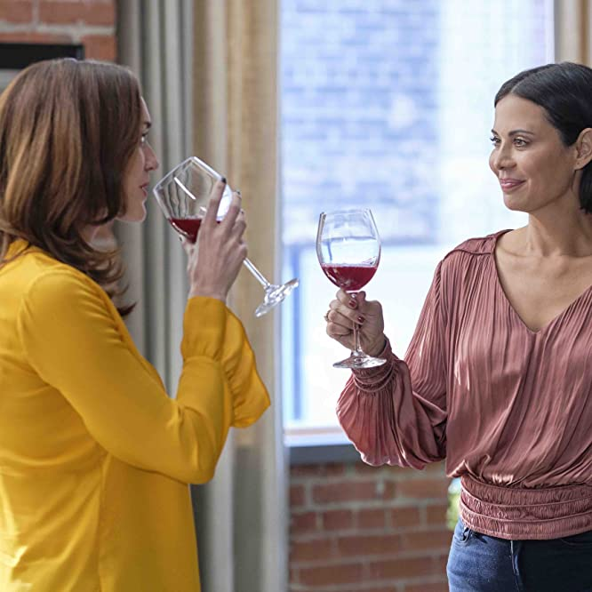 Catherine Bell and Sarah Power in Good Witch: The Loft (2020)