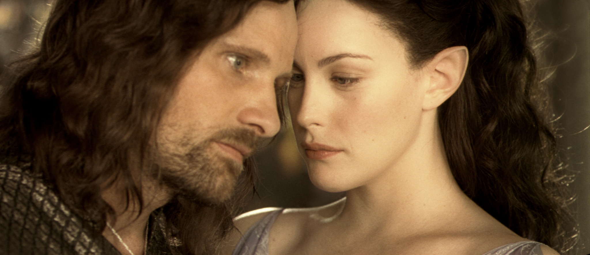 Liv Tyler and Viggo Mortensen in The Lord of the Rings: The Two Towers (2002)