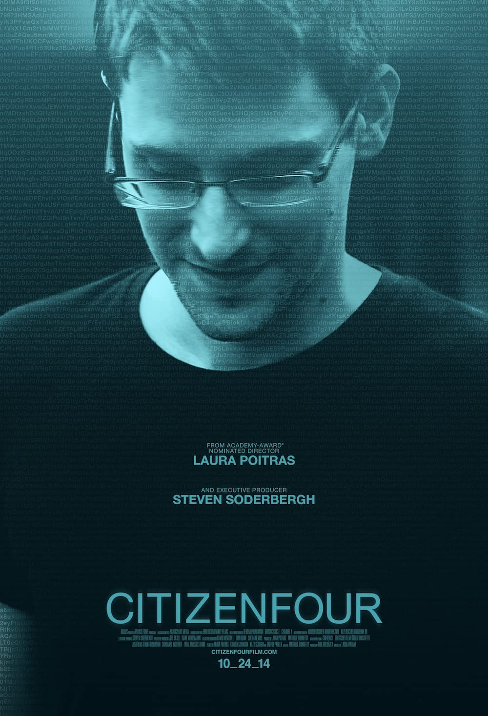 Citizenfour: Directed by Laura Poitras. With Edward Snowden, Glenn Greenwald, William Binney, Jacob Appelbaum. A documentarian and a reporter travel to Hong Kong for the first of many meetings with Edward Snowden.