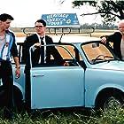 Elijah Wood, Boris Lyoskin, and Eugene Hutz in Everything Is Illuminated (2005)